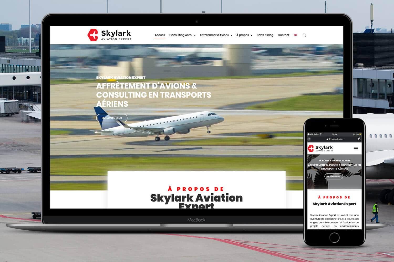 Projet web Skylark Aviation Expert